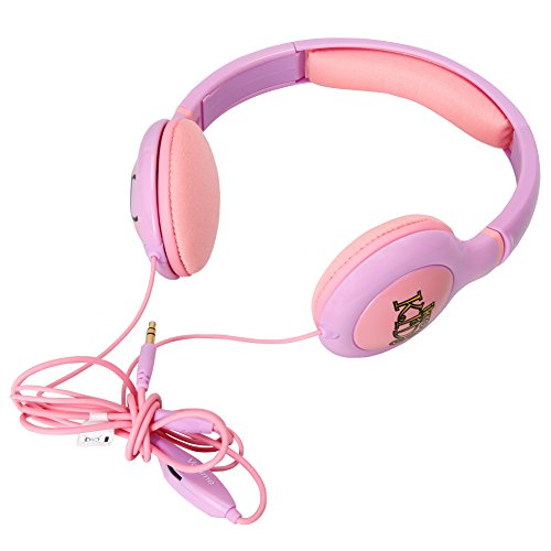 Earphones with microphone with case - purple headphones with case
